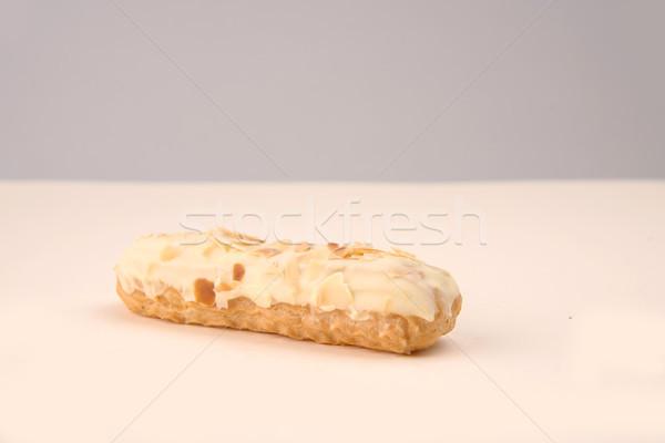 Blanche noix crème isolé design Photo stock © deandrobot