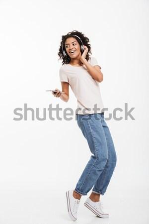 фото удивительный американский женщину коричневый Сток-фото © deandrobot