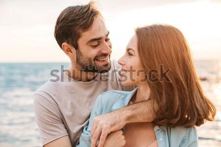 портрет женщину целоваться дружок девушки любви Сток-фото © deandrobot