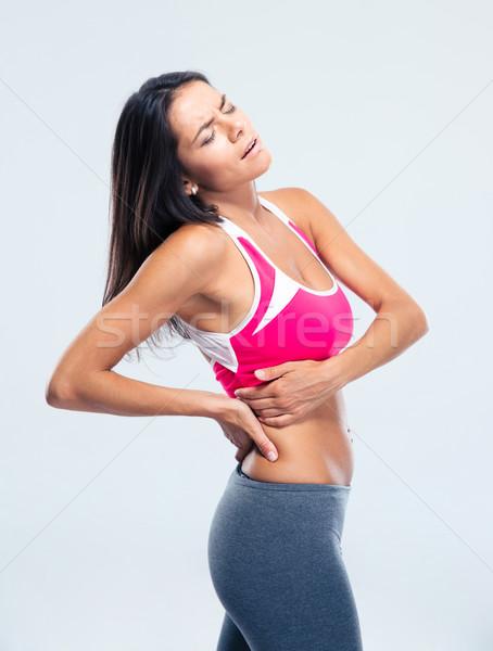 Фитнес-женщины сторона более серый медицинской тело Сток-фото © deandrobot