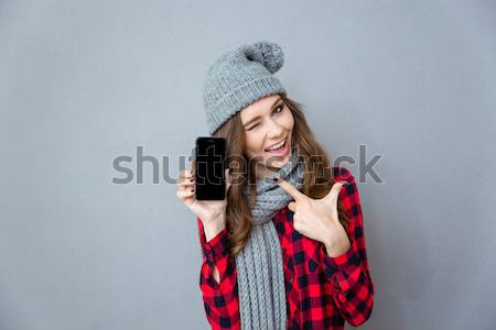 женщину зима ткань ювелирные шкатулке Сток-фото © deandrobot