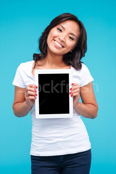 Sonriendo casual Asia mujer Foto stock © deandrobot