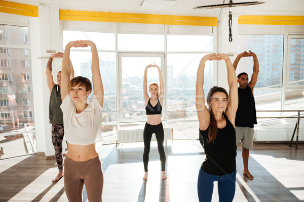 Picture of group engaged yoga Stock photo © deandrobot
