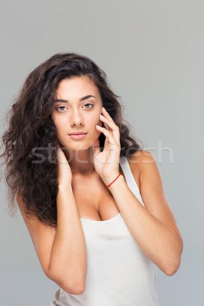 Portrait of a beautiful pretty woman Stock photo © deandrobot