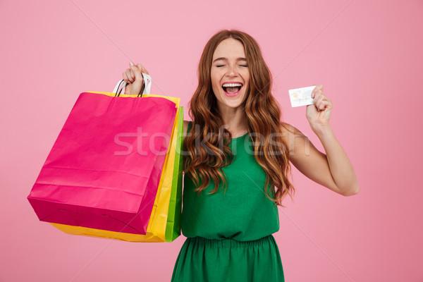 肖像 幸せ 満足した 女性 ストックフォト © deandrobot