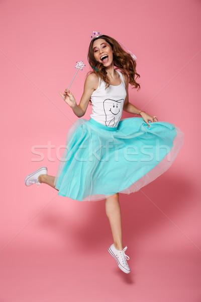 Foto alegre princesa olhando câmera Foto stock © deandrobot