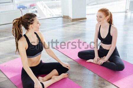 Stok fotoğraf: Iki · pembe · yoga