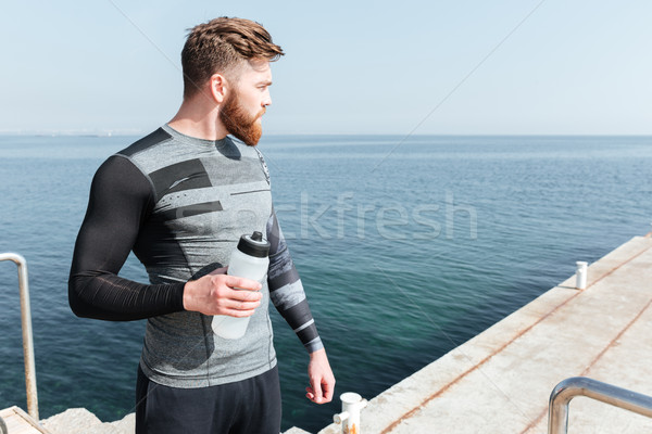 Runner with water Stock photo © deandrobot