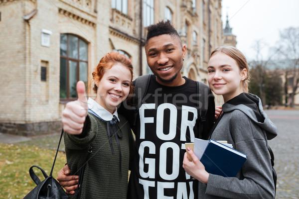 Studentów stałego uczelni kampus Zdjęcia stock © deandrobot