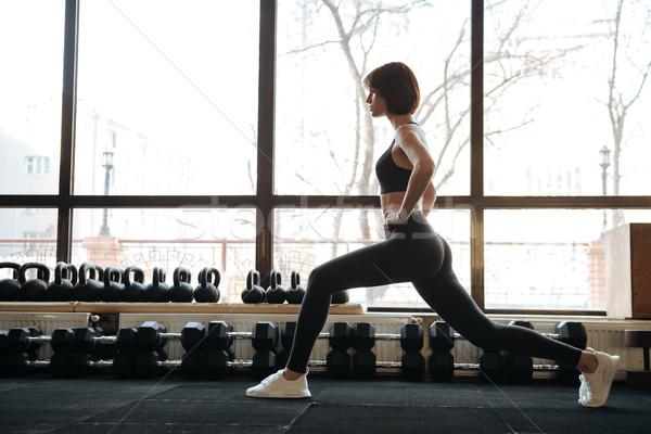 Fitness donna palestra attrattivo giovani donna Foto d'archivio © deandrobot