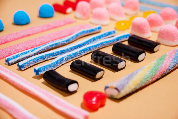 Mixed colorful candies jellies Stock photo © deandrobot
