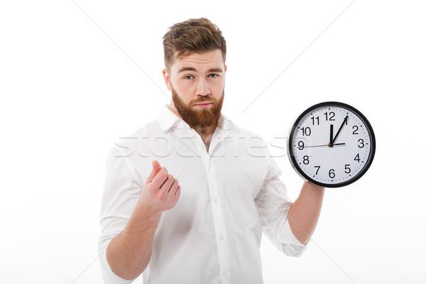 устал человека бизнеса одежды Время-деньги Сток-фото © deandrobot