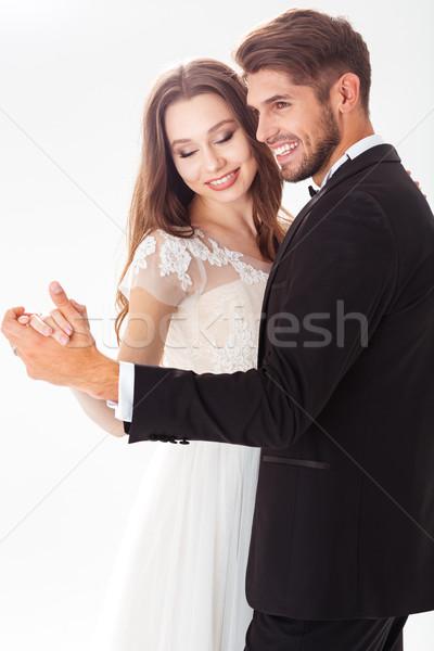 Dancing newlyweds Stock photo © deandrobot