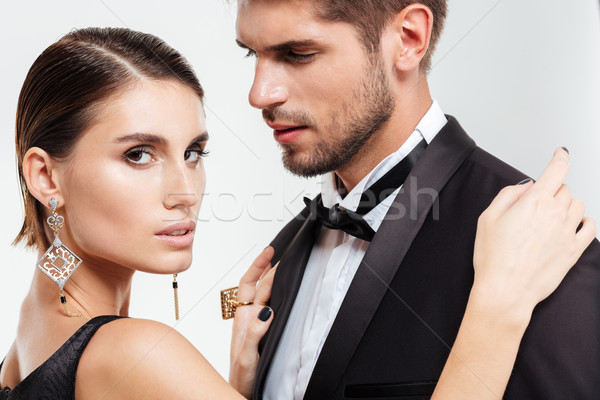 Close up of fashion business couple Stock photo © deandrobot