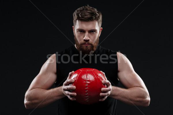 Poważny trener piłka ręce odizolowany Zdjęcia stock © deandrobot