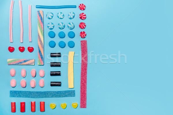 Stock foto: Top · Ansicht · farbenreich · Zucker · Süßigkeiten · Zeile