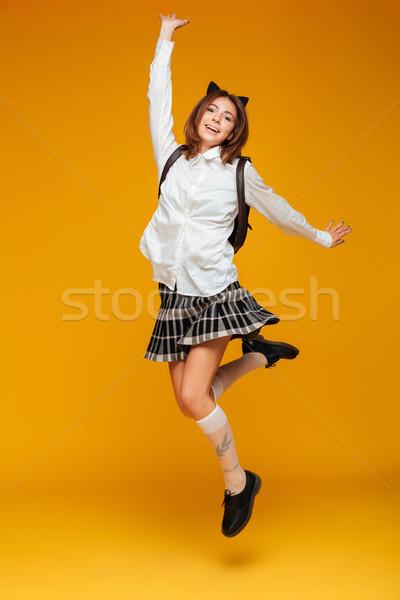 портрет молодые школьница равномерный Сток-фото © deandrobot