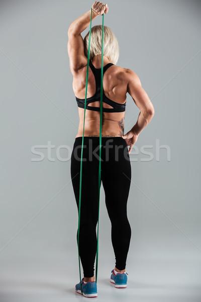 Tam uzunlukta kadın atlet spor aşınma Stok fotoğraf © deandrobot