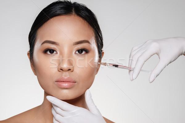 Сток-фото: портрет · красивой · азиатских · женщину · красоту