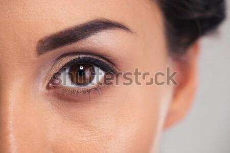 женщины глаза портрет женщину моде Сток-фото © deandrobot