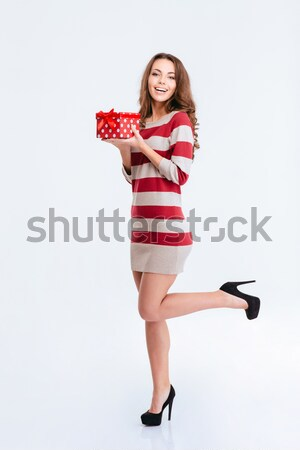 Stock photo: Full length portrait of a happy woman