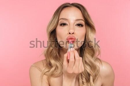 Zmysłowy kobieta usta atrakcyjny młoda kobieta Zdjęcia stock © deandrobot