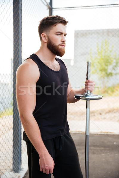 Portrait sérieux barbu Photo stock © deandrobot