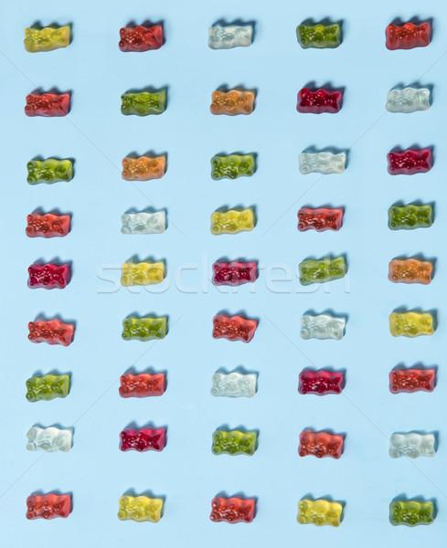 Rág cukorka plüssmaci űrlap kép kék Stock fotó © deandrobot