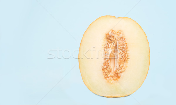 Horizontal shot of half melon Stock photo © deandrobot