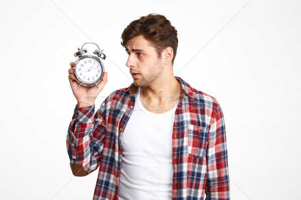 Portrait of a restless troubled man Stock photo © deandrobot