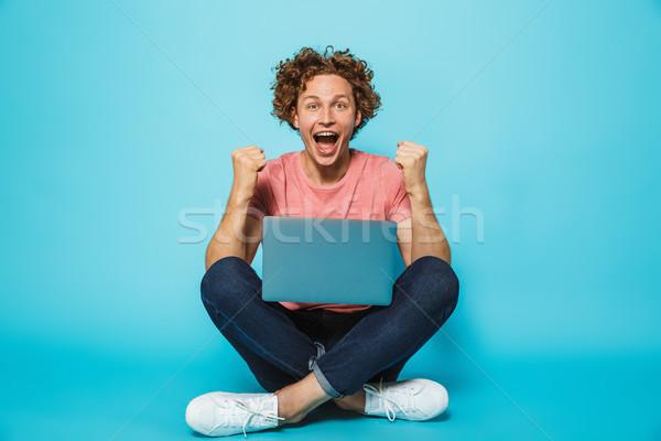 画像 白人 幸せ 男 20歳代 ブラウン ストックフォト © deandrobot