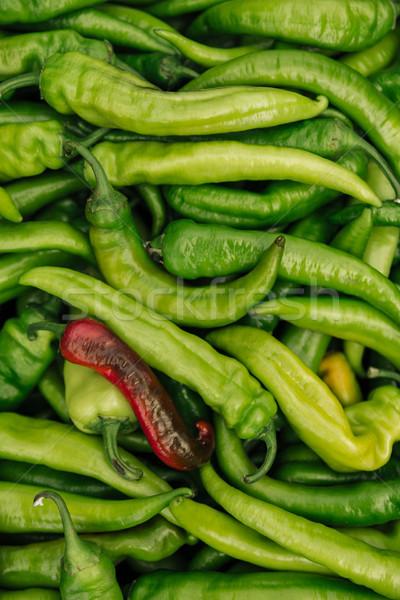 Pikantny zielone hot czerwony Zdjęcia stock © deandrobot