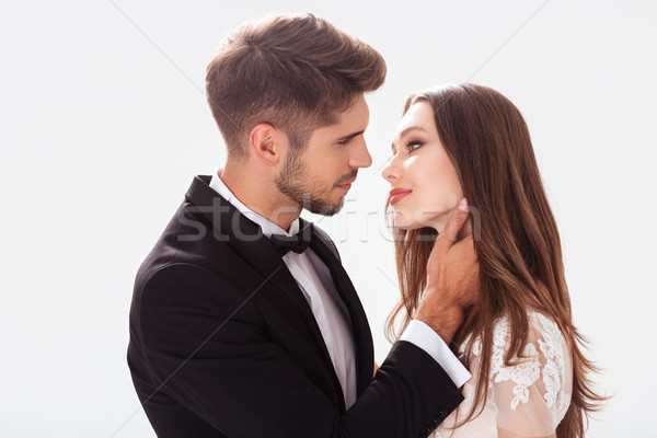 Nice newlyweds Stock photo © deandrobot