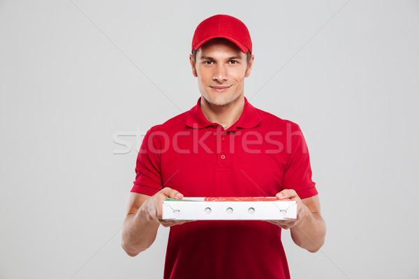 Pizza deliveryman Stock photo © deandrobot