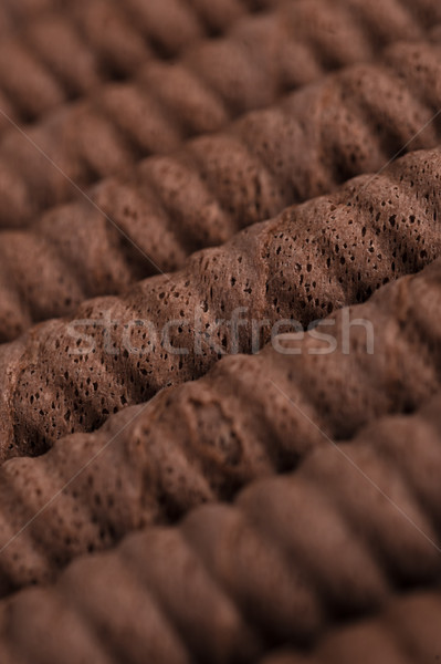 Chocolate waffle rolls in a row Stock photo © deandrobot