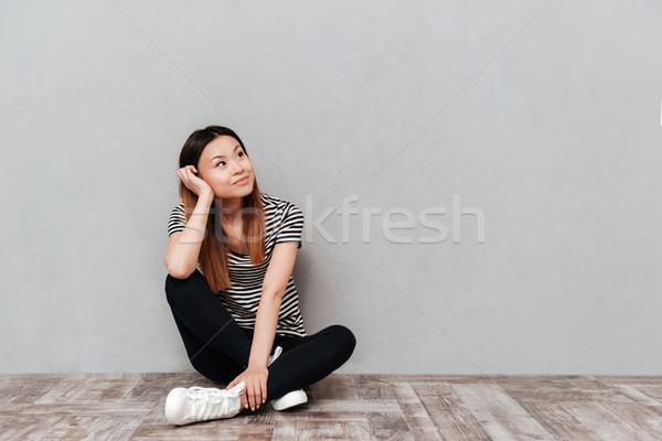 Stok fotoğraf: Sevimli · kadın · Asya · oturma