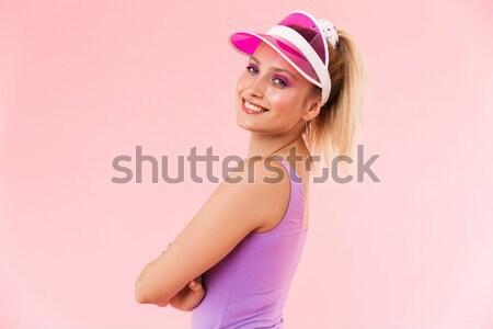 Portrait of a lovely pretty girl in summer dress Stock photo © deandrobot