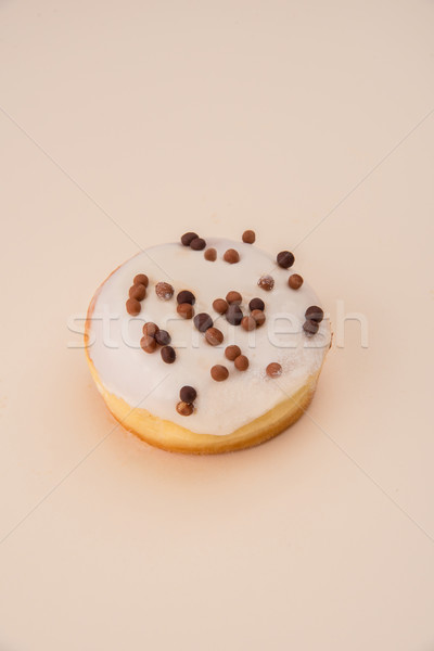 Fehér fánk pelyhek izolált lövés finom Stock fotó © deandrobot
