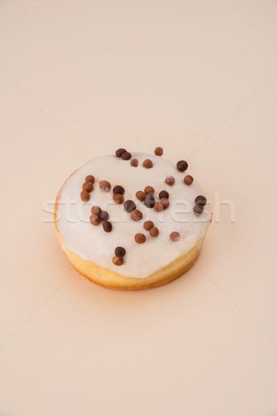 Weiß Donut Flocken isoliert erschossen Stock foto © deandrobot