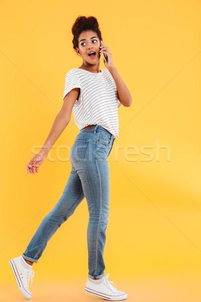 выстрел занят серьезный случайный Lady говорить Сток-фото © deandrobot