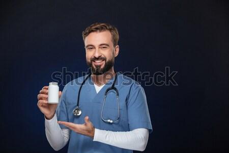 Stok fotoğraf: Portre · gülen · erkek · doktor · üniforma · stetoskop