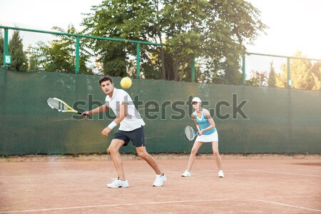 Won tennis players Stock photo © deandrobot