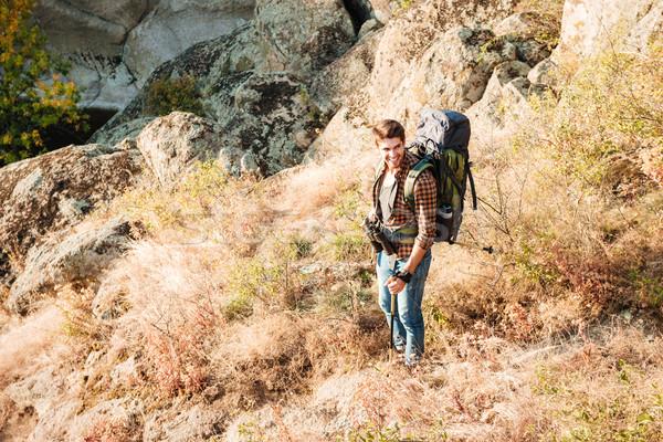 Young adventure man Stock photo © deandrobot