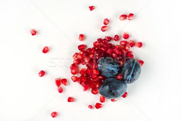 üst görmek sağlıklı sulu meyve taze Stok fotoğraf © deandrobot
