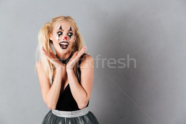 ストックフォト: 幸せ · ハロウィン · を構成する · 手をつない · 顔