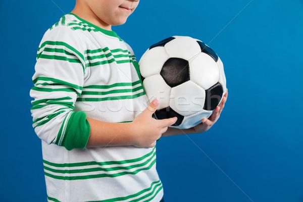 ストックフォト: 画像 · 少年 · サッカーボール · 孤立した