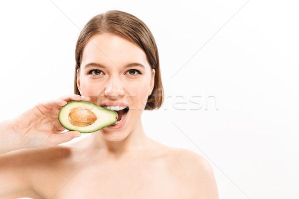 Bellezza ritratto donna a torso nudo piccolo Foto d'archivio © deandrobot