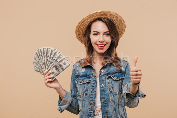 Portrait of a happy young girl in summer clothes Stock photo © deandrobot