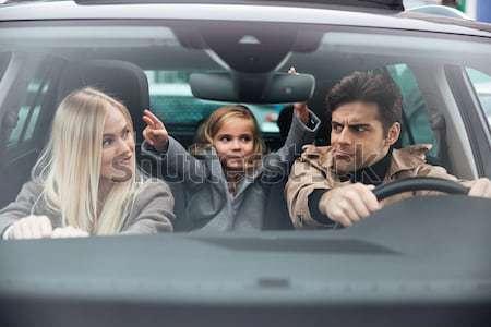 Сток-фото: человека · женщину · автомобилей · сердиться