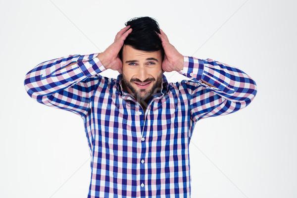 Retrato alterar hombre mirando cámara aislado Foto stock © deandrobot
